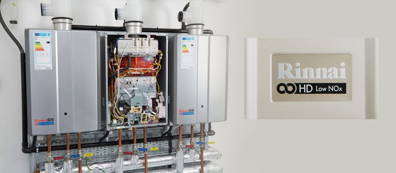 Decentralised continuous flow hot water heating systems